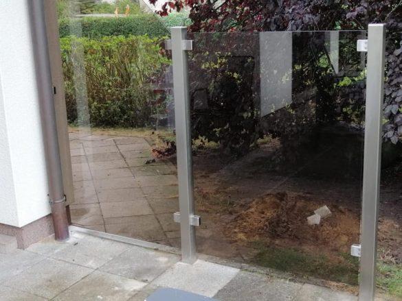 Windschutz aus Glas