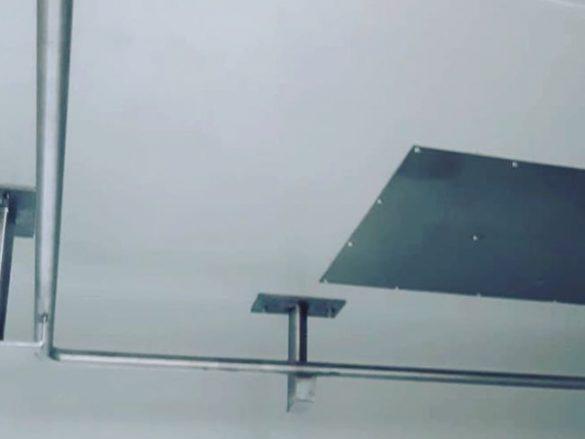 Metallkonstruktion Kühlkammerschiene