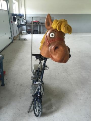 Sonderkonstruktion Fahrrad Eventbereich
