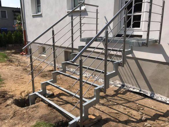 Edelstahl Treppengeländer fürs Eigenheim