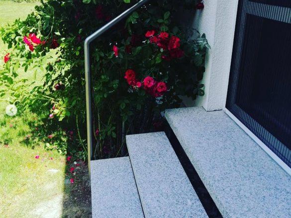 Geländer aus Edelstahl